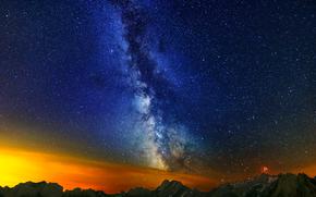 Alpstein, Milky Way, landscape