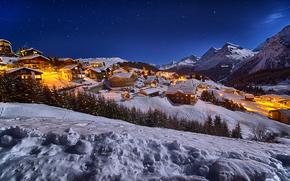 Arosa, Arosa, Switzerland, sunset, Mountains, ski resort