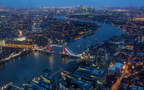London, Великобритания, город, вид с верху