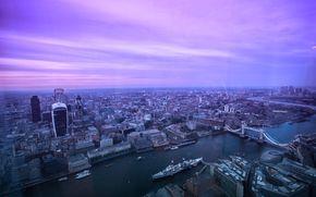 Londres, Reino Unido, ciudad, perspectiva de encima