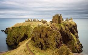 Dunnottar Castle, Замок Данноттар, шотландия