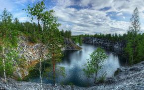Ruskeala cava di marmo, Karelia, paesaggio