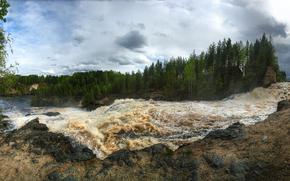Girvas HPP drenante, Karelia, panorama