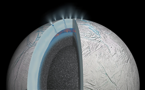 Гидротермальная активность на Энцеладе, спутник Сатурна, космос