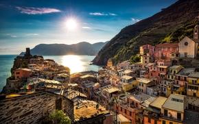 Vernazza, Cinque Terre, Liguria, Italia, Mar Ligure, Vernazza, Cinque Terre, Liguria, Italia, Mar Ligure, mare, costa, costruzione
