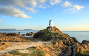Llanddwyn, Island Lighthouse, island, lighthouse, landscape