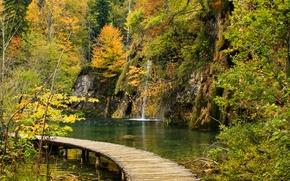 autunno, Plitvice Lakes National Park, croazia