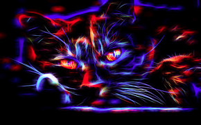 cat, COTE, 3d, art