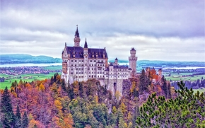 Neuschwanstein Castle, Bavaria, Germany, Замок Нойшванштайн, Бавария, Германия