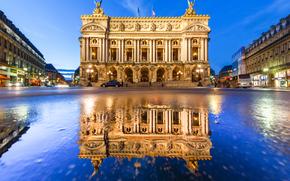 Palais Garnier, Paris Opera, Paris, France, Опера Гарнье, Гранд-опера, Париж, Франция, здание, отражение