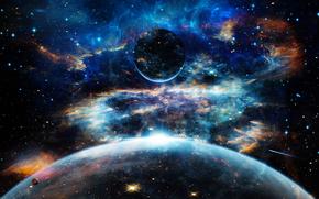 espacio, Planeta, 3d