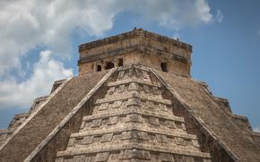 pyramid, Temple of Kukulkan, Chichen Itza, Mexico