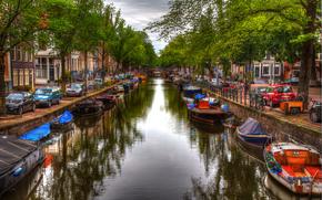 阿姆斯特丹, 城市, 渠道, 船, 家
