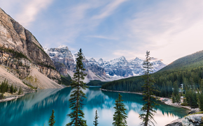 阿尔伯塔, 班夫国家公园(Banff National Park), 加拿大, 冰碛湖, 加拿大国家公园