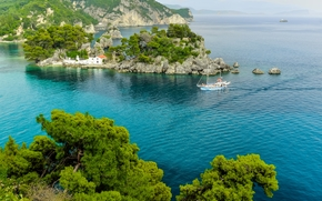 Parga, Greece, Parga, Greece, sea, island, landscape