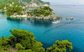 Parga, Gr?cia, mar, ilha, paisagem