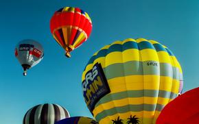 фотокартина, печать на холсте на заказ Украина ArtHolst воздушные шары, небо, полёт