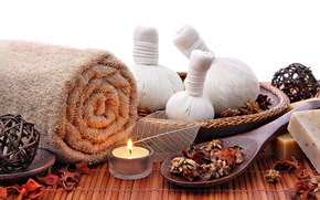 candle, spa, spa, towel, flavor
