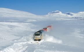 suite, neige, Norvège