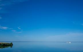 Volgograd Sea, Russia, ship, sky, landscape
