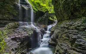 fiume, Rocce, cascata, paesaggio