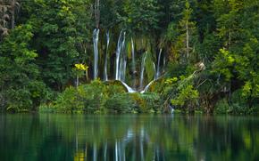Plitvice Lakes National Park, croazia, Parco Nazionale di Plitvice, Croazia, cascata, lago, acqua, foresta, alberi