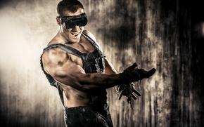 фотокартина, печать на холсте на заказ Украина ArtHolst парень, чумазый, работяга, очки, комбинезон