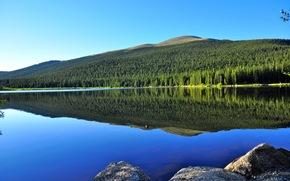 Echo Lake, Monashee, Colombie-Britannique, Canada, lac
