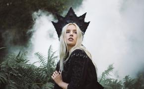Lauren Hallworth, корона, папоротник, дым
