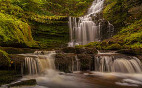 Scaleber Force Falls, Yorkshire Dales National Park, england, Yorkshire Dales, England, waterfall, cascade