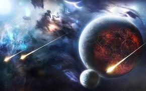 космос, планеты, 3d