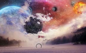 space, 3d, art