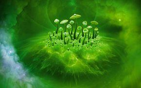 蘑菇意识, 蘑菇, 3D, 艺术, 美女, 抽象化