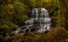 Pearson's Falls, Saluda, North Carolina, Pearson's Falls, Saluda, North Carolina, waterfall, cascade, forest, autumn