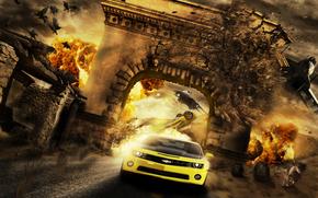 Wyścig, rzeźnia, surrealizm, Fantasmagoria, 3d, sztuka
