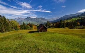 Toggenburg, Switzerland, Alpstein, Alps, Toggenburg, Switzerland, Alpshtayn, Alps, Mountains, valley, meadow, hut