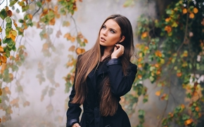 Tiziana Di Garbo, модель, осень, ветки