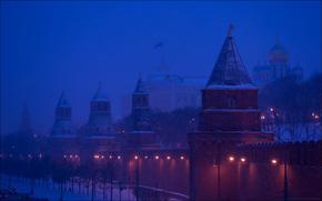 Russia, Moscow, Kremlin towers, Yuri Degtyarev
