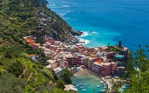 Vernazza, Cinque Terre, Liguria, Italia, Mar Ligure, Vernazza, Cinque Terre, Liguria, Italia, Mar Ligure, mare, costa, bay, Imbarcazione, costruzione