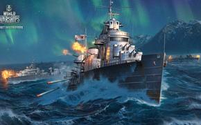 фотокартина, печать на холсте на заказ Украина ArtHolst World of Warships, Мир Кораблей, морской бой