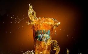 salpico, vidro, cerveja, Macro, Barley Ilha Beer