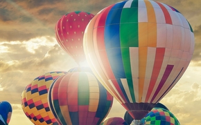 hot air balloons, Balloons, Balloons, sky