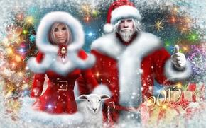 nony年, 圣诞老人, 雪少女