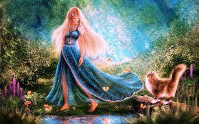 Marchez à la Forêt des Merveilles, Barefoot, fille, COTE