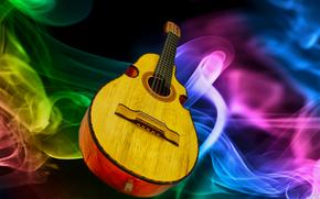 фотокартина, печать на холсте на заказ Украина ArtHolst музыкальный, инструмент, гитара