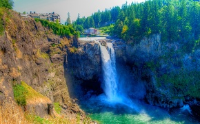 Водопад Сноквалми, Snoqualmie Falls, США, штат Вашингтон