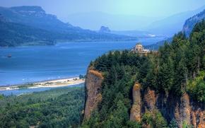 в ущелье реки Колумбия, Орегон, Краун Пойнт, Виста Дом