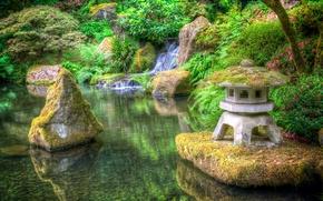 parque, paisagem, jardim, Jardim Japon?s