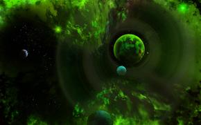 фотокартина, печать на холсте на заказ Украина ArtHolst космос, 3d, art