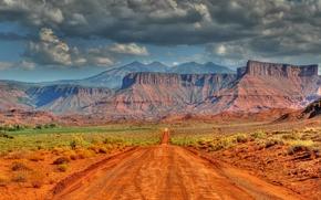 Utah, скалы, дорога, пейзаж, горы